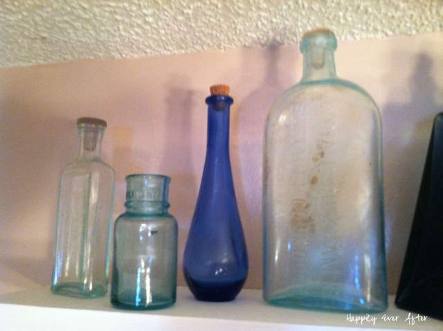 Blue Glass Bottles | Happily Ever After Etc.