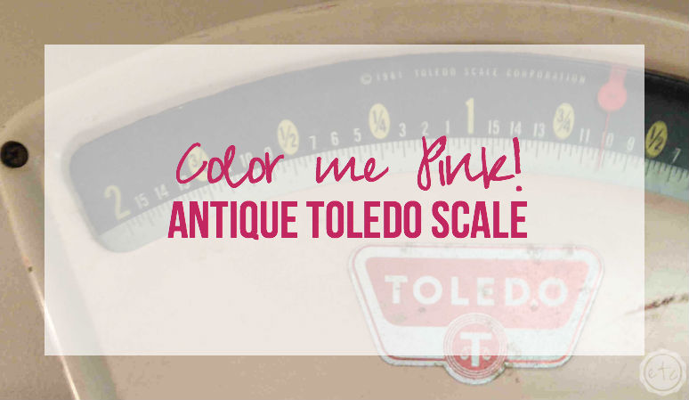 Color me PINK – Antique Toledo Scale
