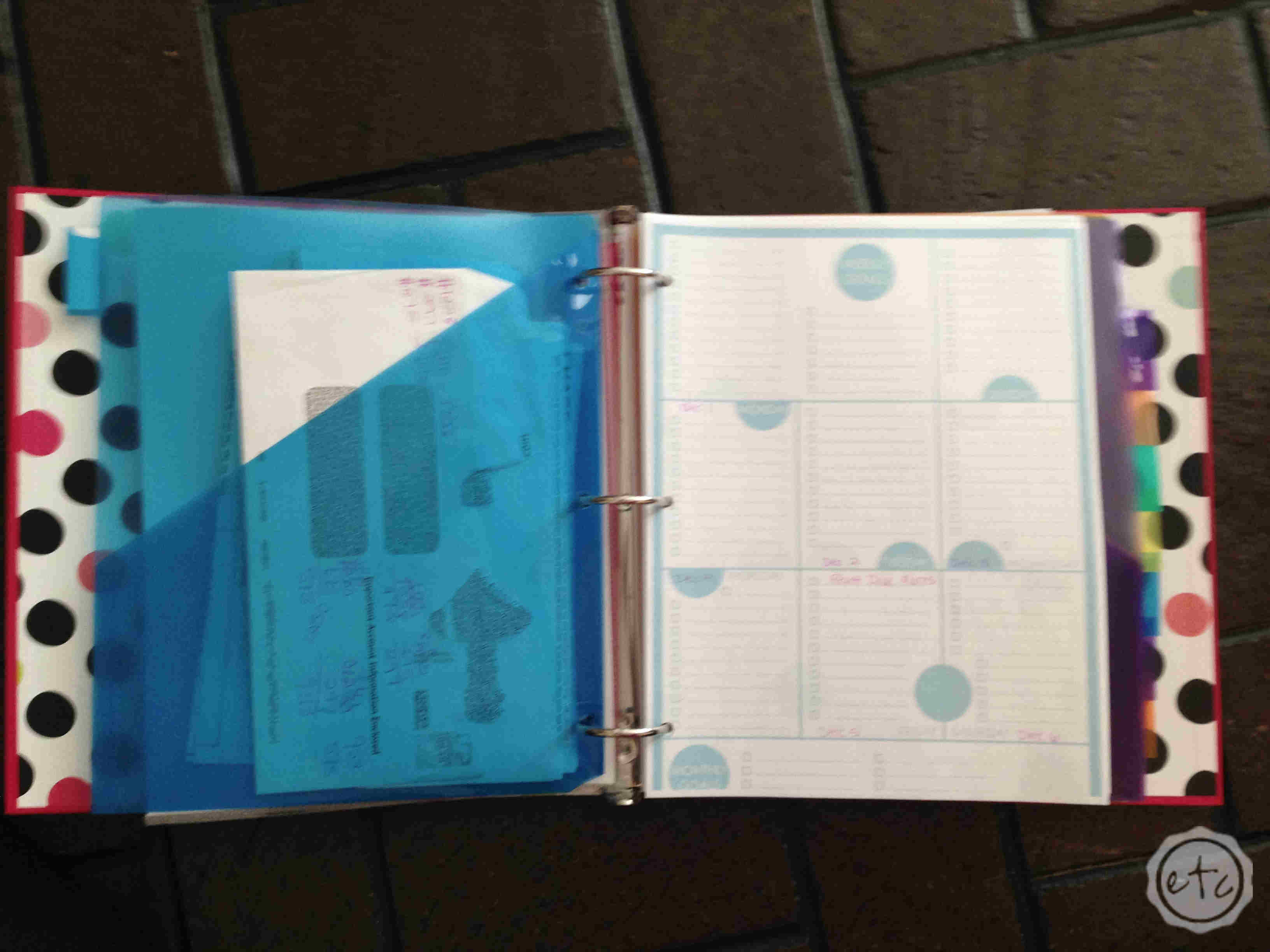Housekeeping Binder 2015 with Happily Ever After, Etc.