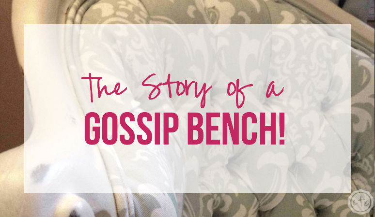 Found It! The Story of a Gossip Bench