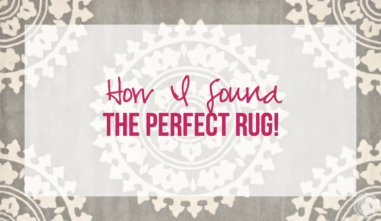 How I found the Perfect Rug with Happily Ever After Etc