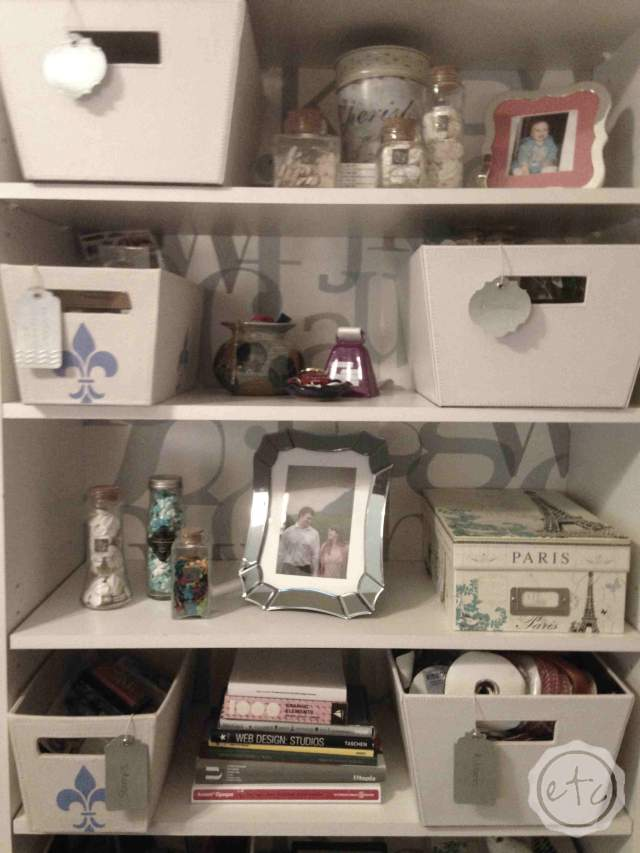 How to add Pizazz to a Bookcase | Happily Ever After Etc
