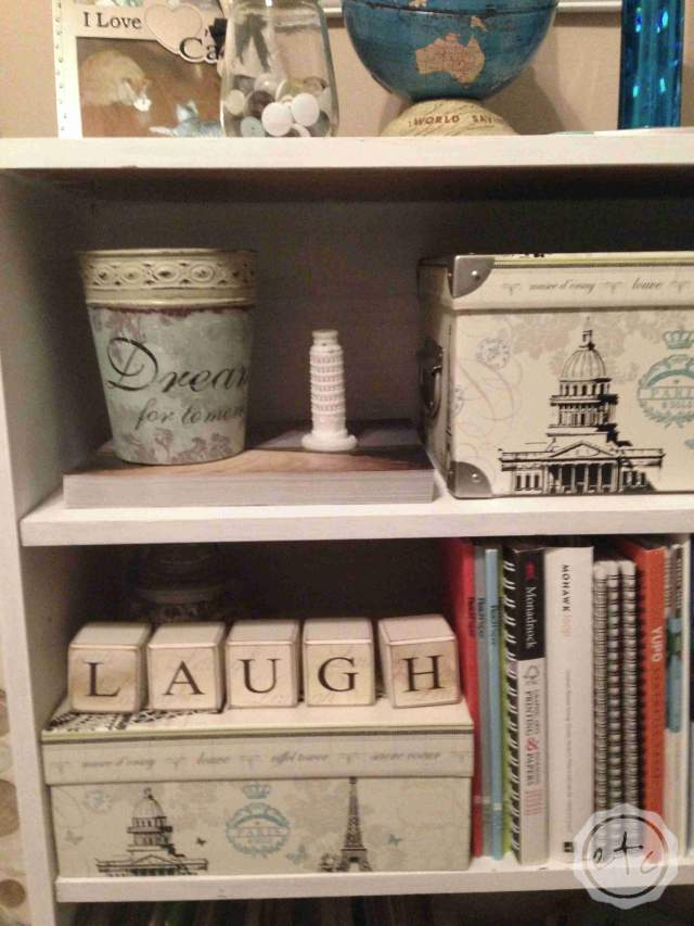 How to add Pizazz to a Bookcase   Happily Ever After Etc