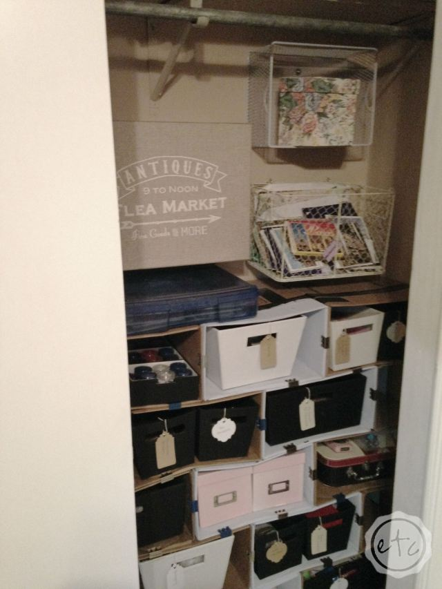 How I Used Baskets for Wall Storage | Happily Ever After Etc.