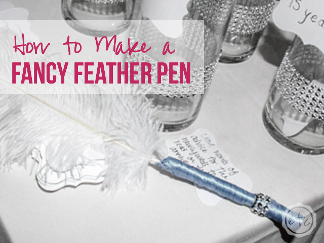 How to Make a Fancy Feather Pen   Happily Ever After, Etc.
