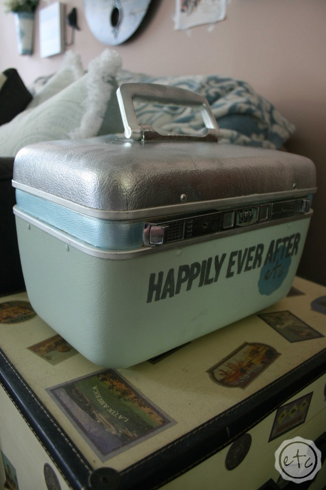 A Vintage Suitcase Makeover   Happily Ever After, Etc.