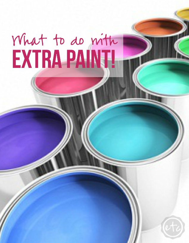 What to do with EXCESS Paint?! Happily Ever After, Etc.
