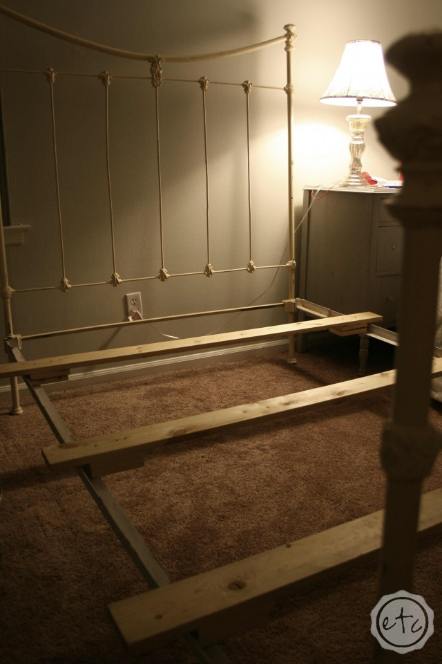 How to Turn Your Antique Double Bed into a Queen | Happily Ever After, Etc.