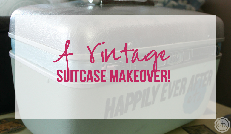 A Vintage Suitcase Makeover