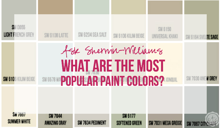 Ask Sherwin-Williams... What are the most Popular Paint Colors With Happily Ever After Etc.