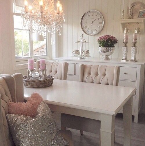 Happily Ever After, Etc. blush dining room
