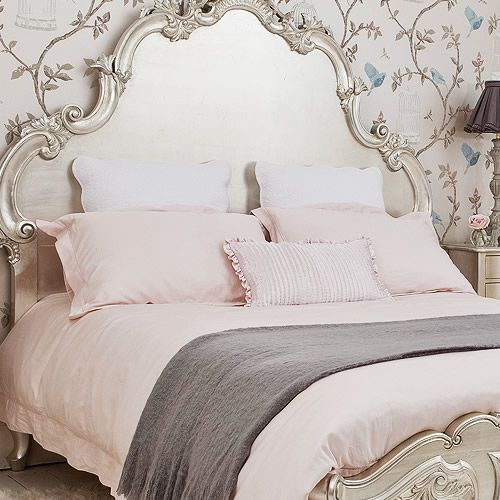 Happily Ever After, Etc. blush and silver bed