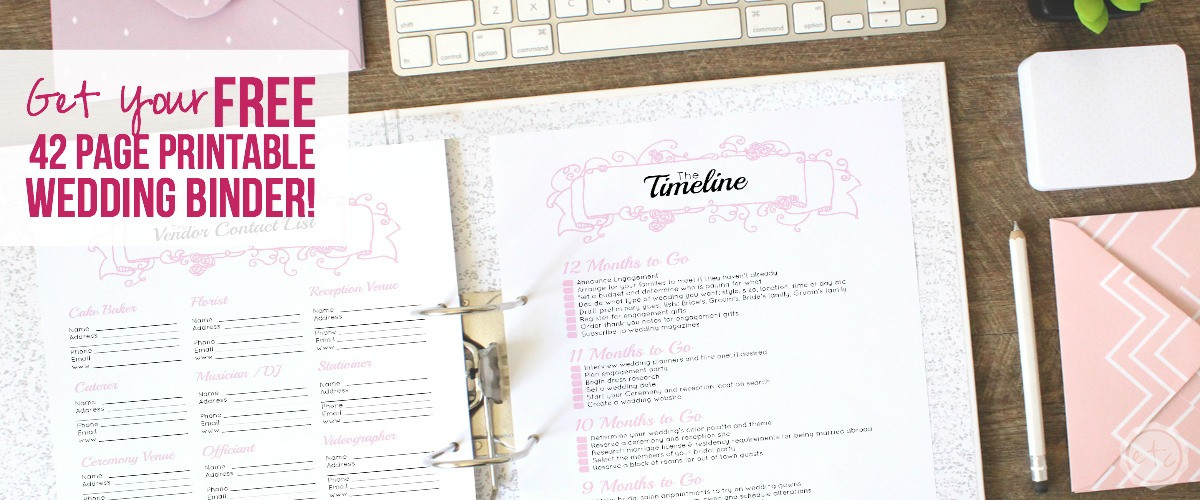 How great is this? A free 42 page wedding binder! I could totally use this for my wedding... I'm going to grab mine! Click through to read more! @HappilyEverAEtc