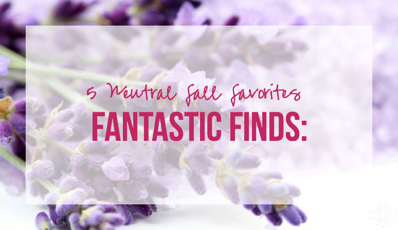 Fantastic Finds: 5 Neutral Fall Favorites