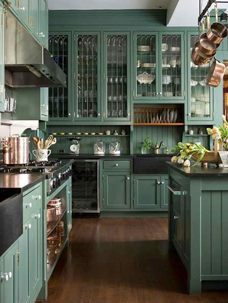 Green with Envy  Gorgeous Green Kitchen Cabinets!  Happily Ever