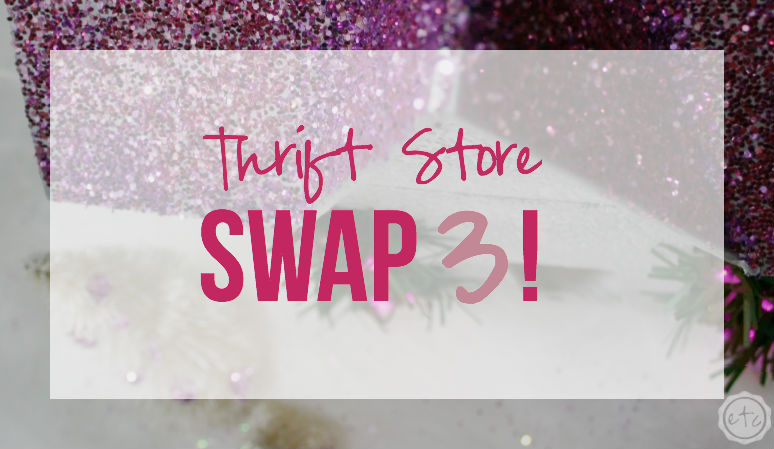 DIY Christmas Glitter House… Thrift Store Swap 3!