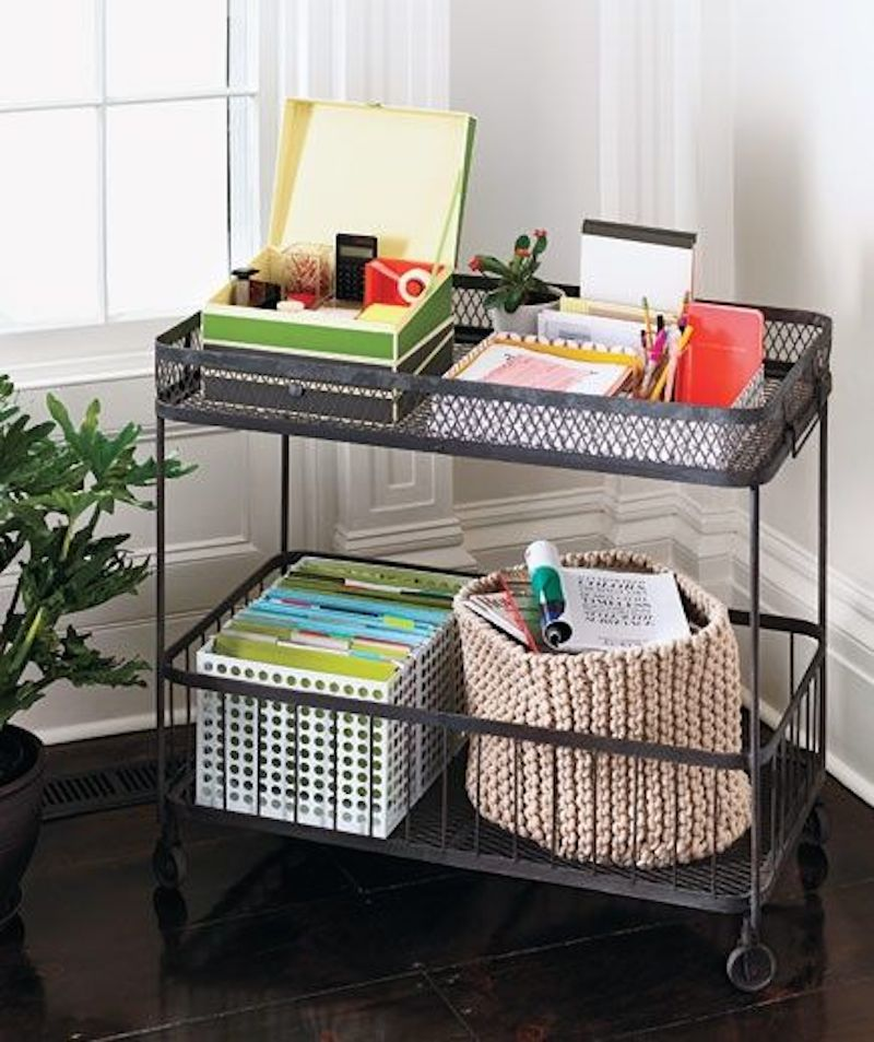 10 ways to organize your rolling cart happily ever - Organize my desk ...