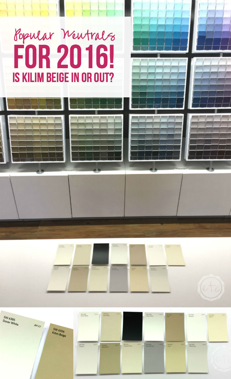 Popular Neutrals for 2016... Is Kilim Beige In or Out?