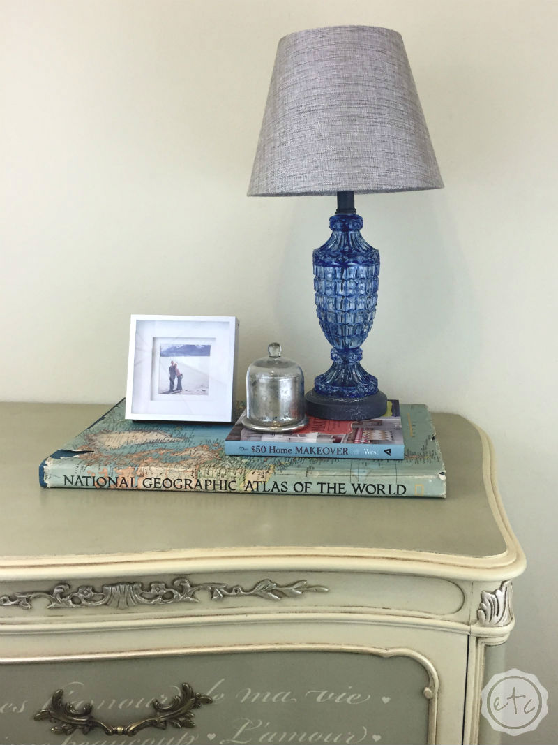 DIY Lamp Transformation... How to Color Transparent Glass with Happily Ever After, Etc.
