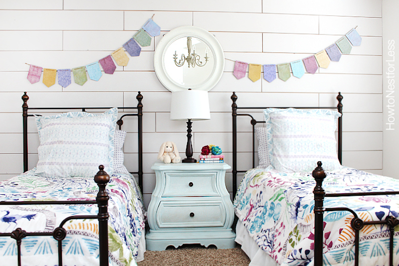 9 white-plank-wall-girls-bedroom