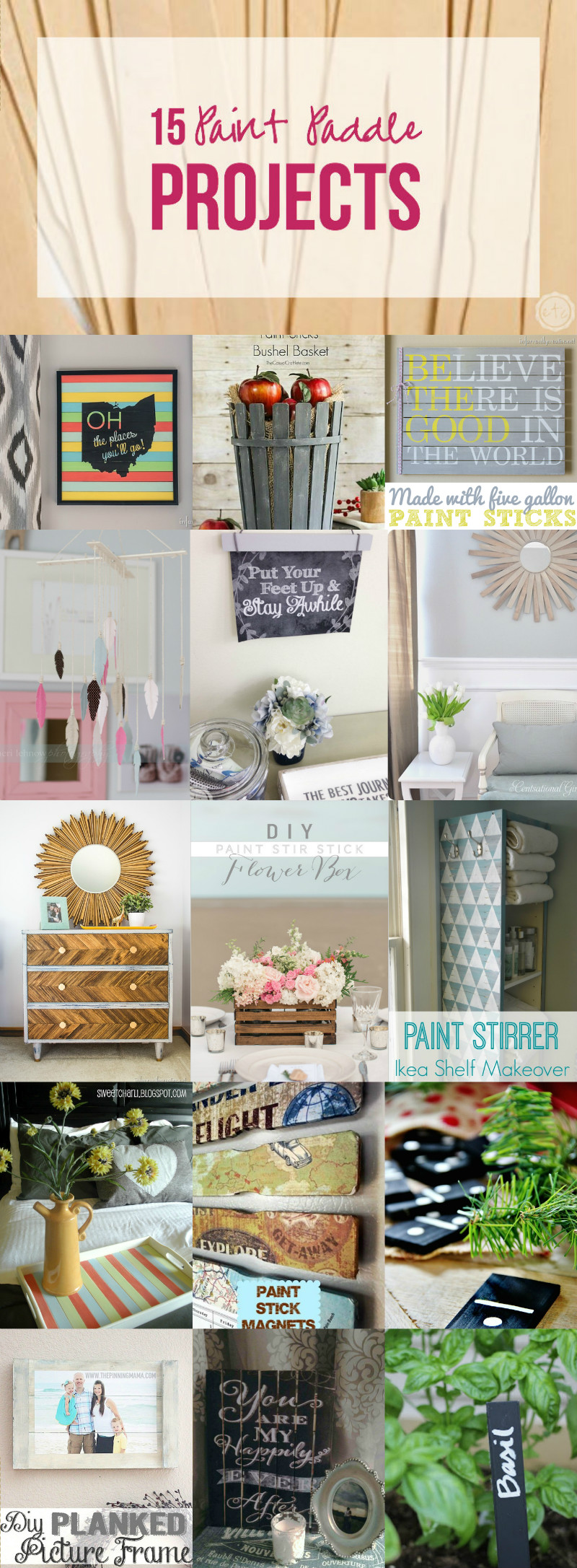 15 Paint Paddle Projects with Happily Ever After, Etc.