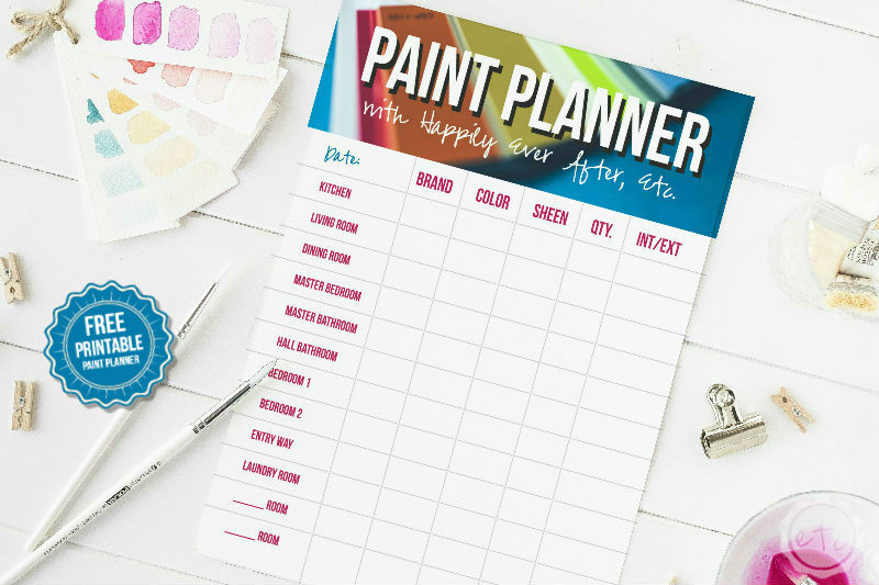 printable paint planner i heart planners