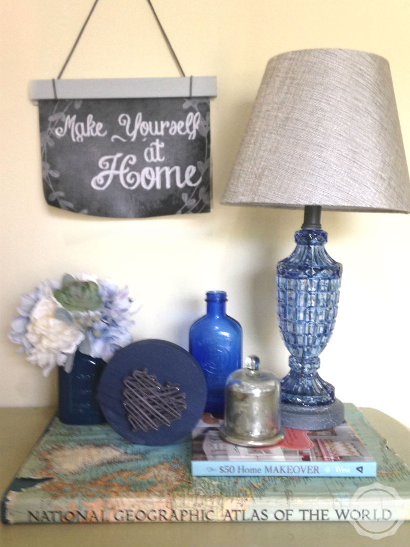 I always love these little pieces of string art... and this one is three-diminsional! I could totally do this! Click over to read how! @HappilyEverAEtc