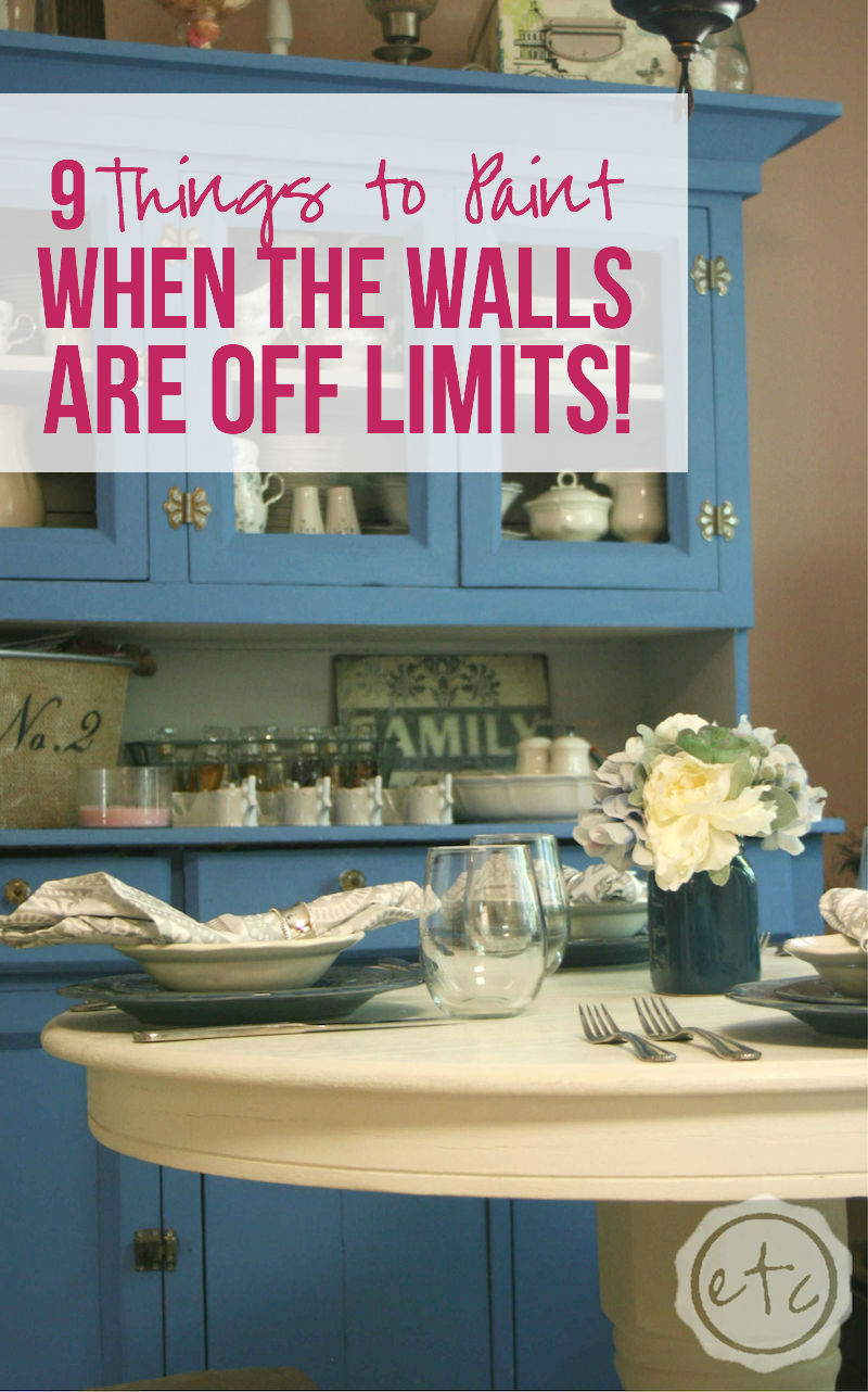 9 Things To Paint When The Walls Are Off Limits Happily