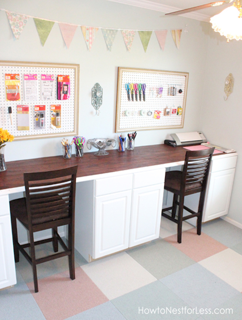 13 amazing craft room makeover 39 s happily ever after etc Diy work desk