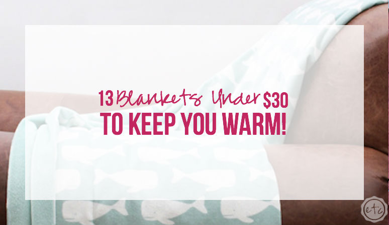 13 Blankets Under $30… to keep you Warm!