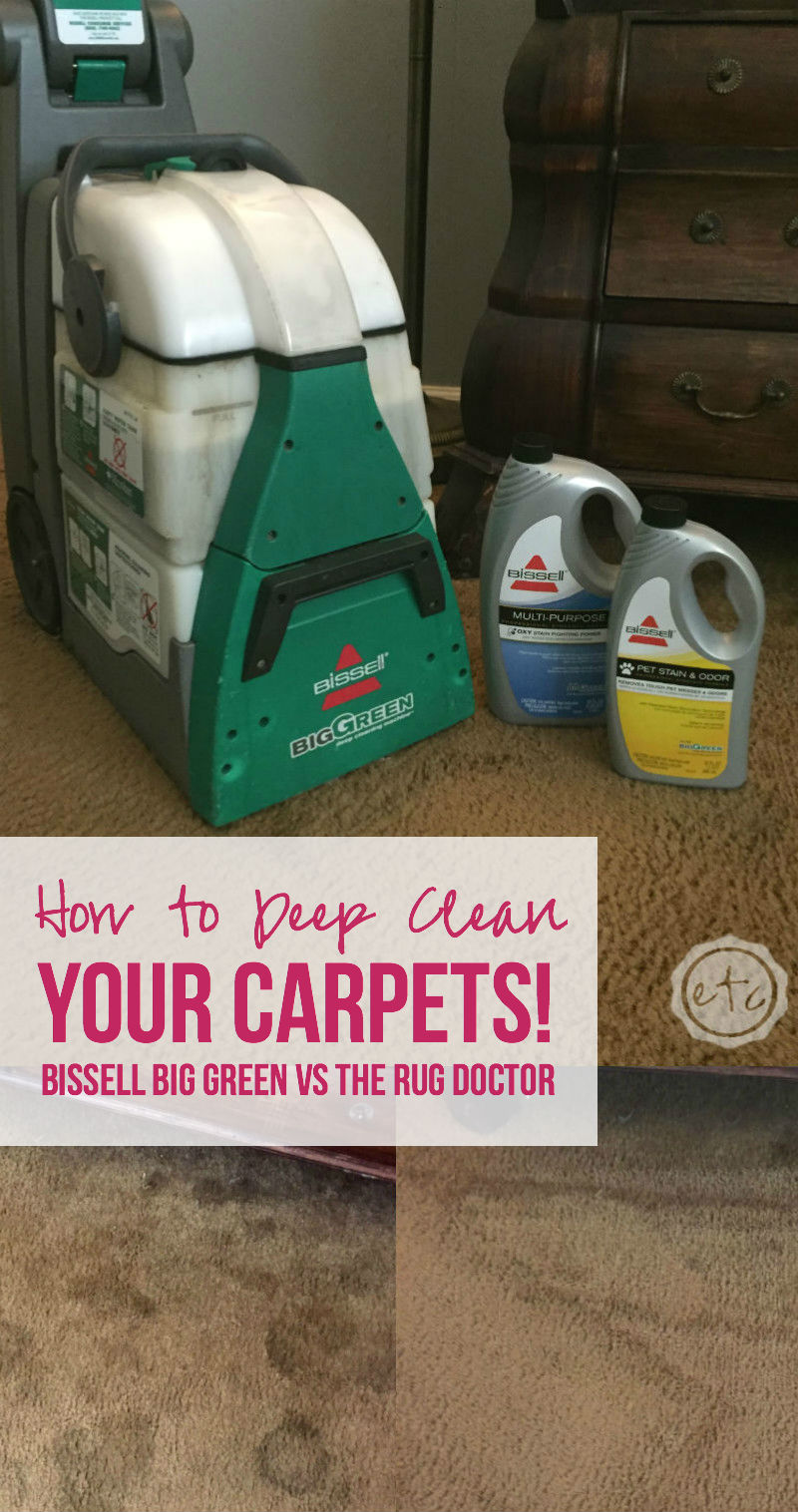 how to deep clean your carpets bissell big green vs the rug doctor
