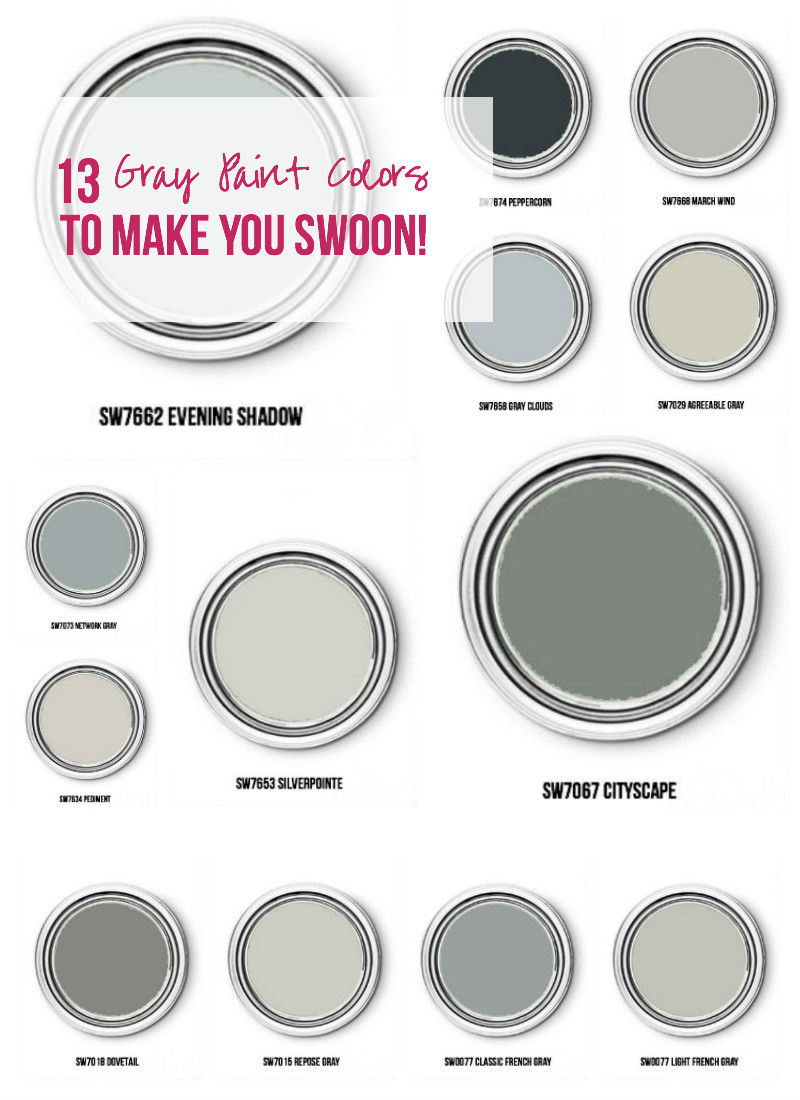 13 Gray Paint Colors to Make you Swoon!