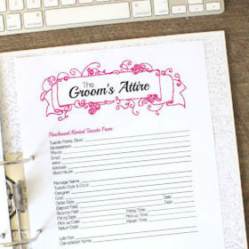 Keep track of every aspect of your groom's attire with this printable worksheet!