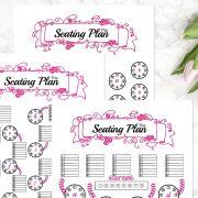 HOT PINK Seating Chart B