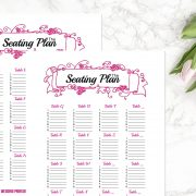 HOT PINK Seating Chart C