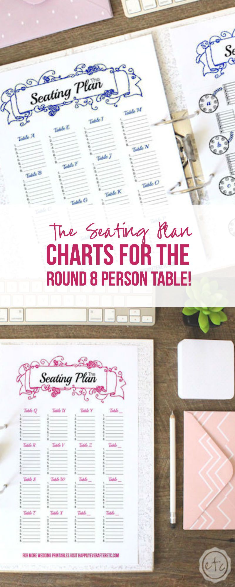 The Seating Plan: Charts for the Round Eight Person Table!
