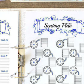 The Seating Plan for your Wedding Binder