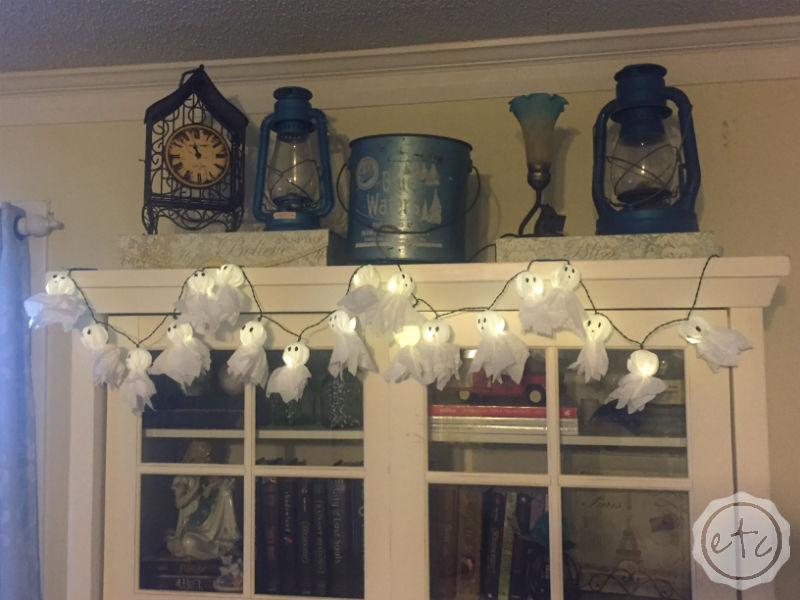 DIY Hefty Trash Bag Mini Light Up Ghosts!