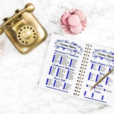 BLUE Wedding Registry A