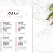 Blush Gift List B
