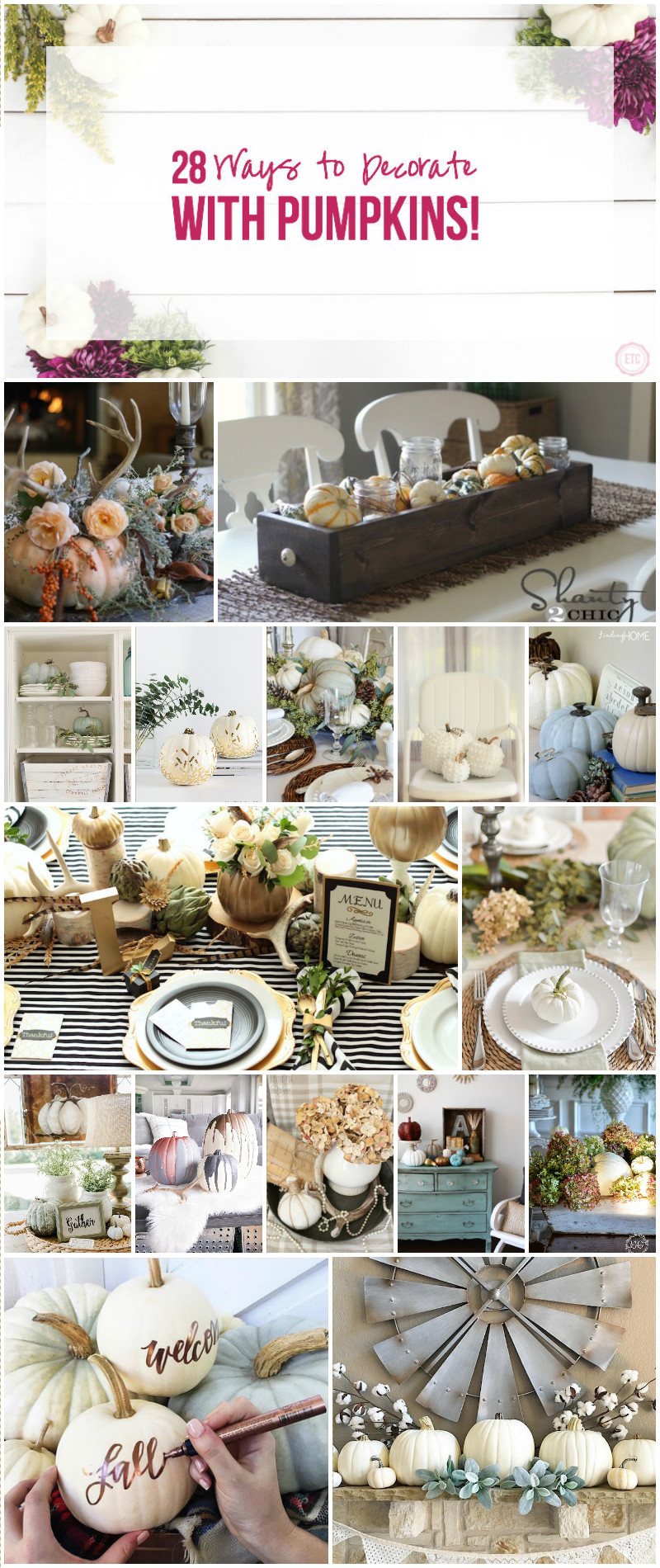 28 Ways to Decorate with PUMPKINS!