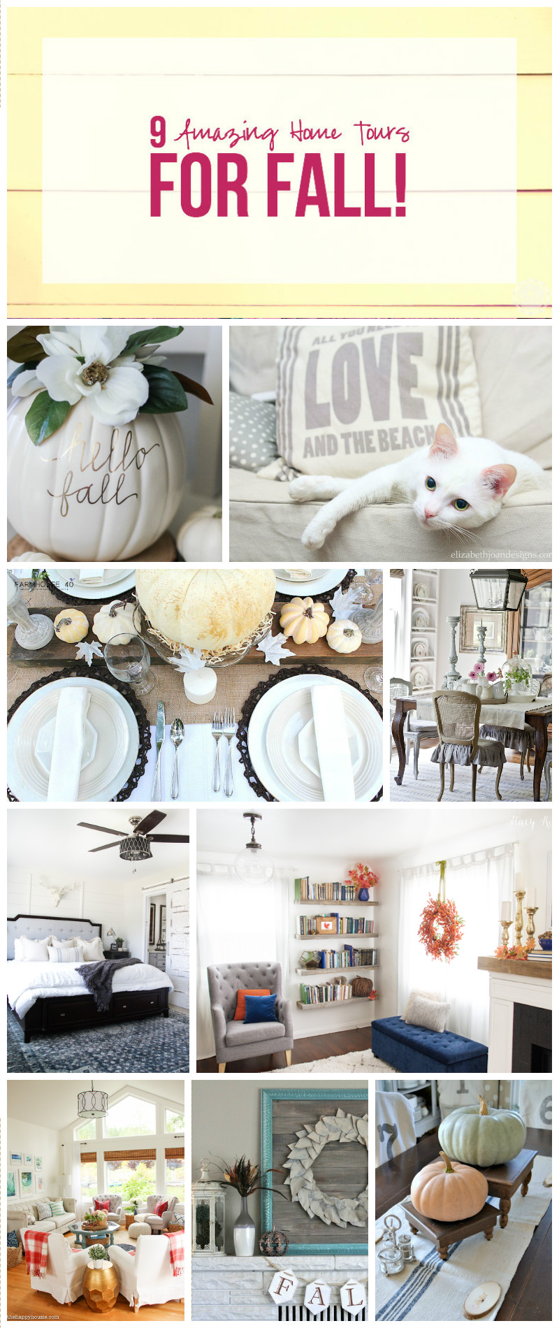 9 Amazing Home Tours for Fall!