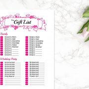 HOT PINK Gift List B