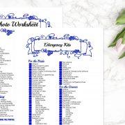 Blue Wedding Binder B