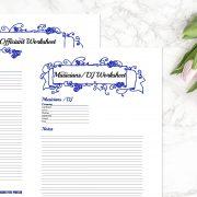 Blue Wedding Binder C