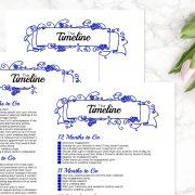 Blue Wedding Binder D
