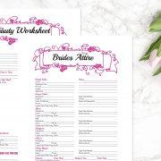 Hot Pink Wedding Binder B