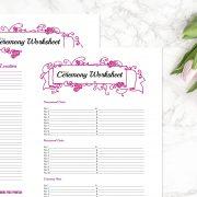 Hot Pink Wedding Binder C
