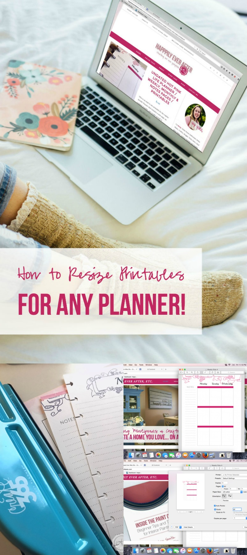 How to Resize Printables for Any Planner