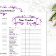 Purple Wedding Binder B